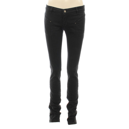 L'Wren Scott Black skinny jeans with embroidery
