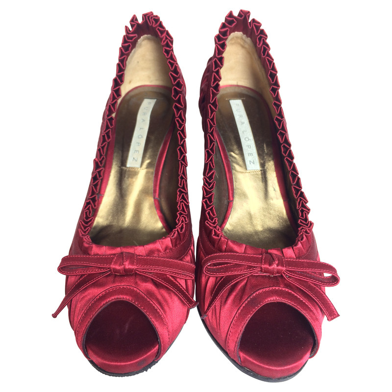 Pura Lopez Pumps satin