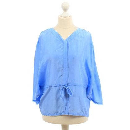 Fendi Blue silk blouse