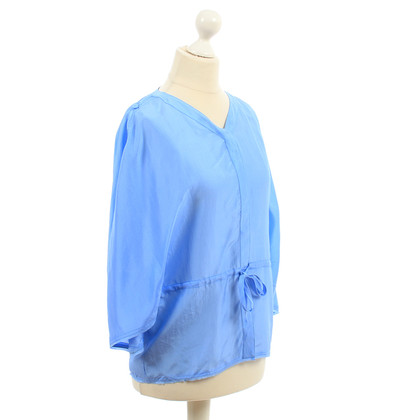Fendi Blauwe zijde blouse