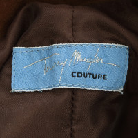 Mugler Bruin suède jurk
