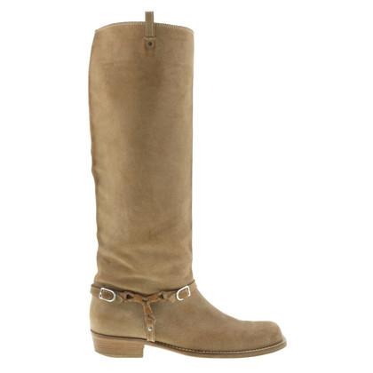 Bottega Veneta Suede boots in beige