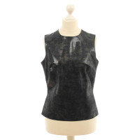 Plein Sud Leather top with gloss