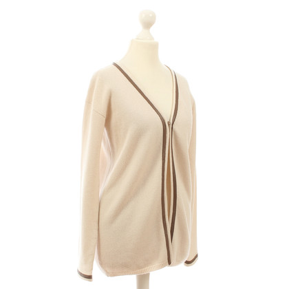 B Private Cashmere jacket with leather details