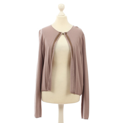 B Private Cashmere Cardigan in mauve