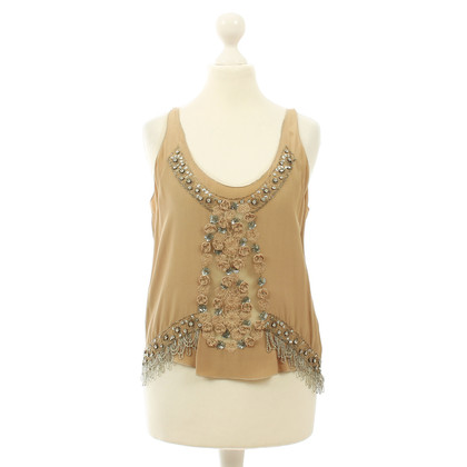 Maurizio Pecoraro  Embroidered silk top