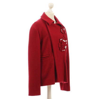 Marni Red coat with flowers