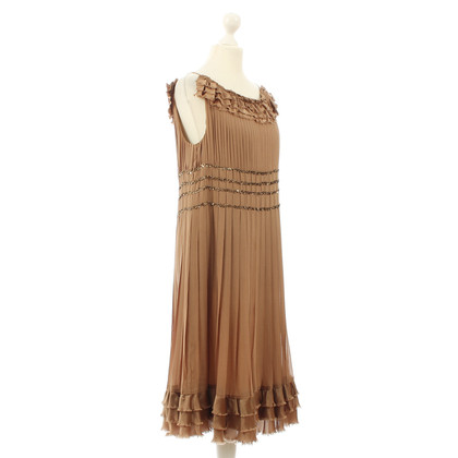 Maurizio Pecoraro  Bronze silk dress
