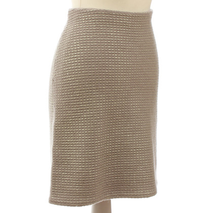 B Private Knit skirt in mauve-gold