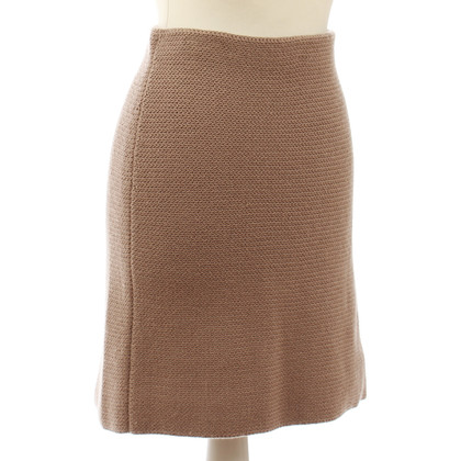 B Private Cashmere rok in stoffige roze