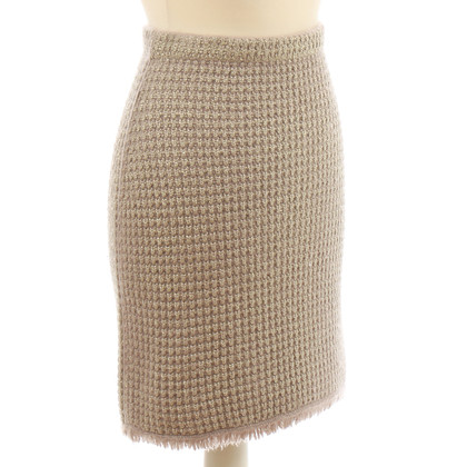 B Private skirt with metallic effect