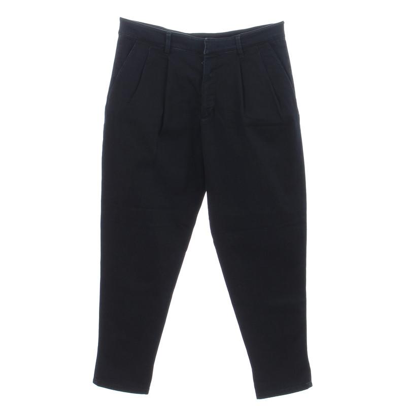 Prada Dark blue jeans with pleats