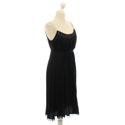 Elie Tahari Black pinafore dress with silk