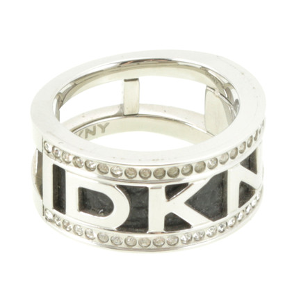 DKNY Logo ring with Rhinestone