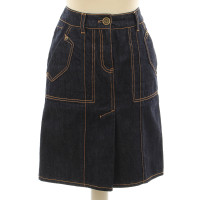 Louis Vuitton Jeans skirt dark denim