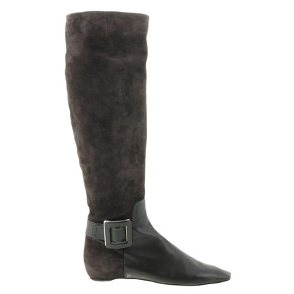 Roger Vivier Suede boots in Brown