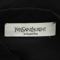 Yves Saint Laurent Transparante blouse met borduurwerk in goud