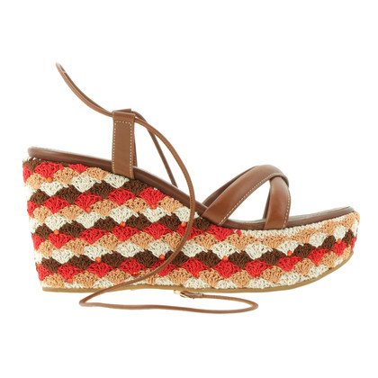 Sergio Rossi Patterned wedges