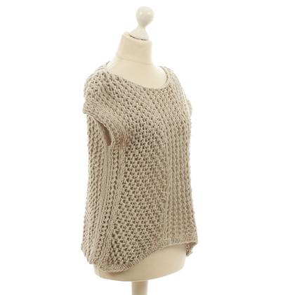 Iris von Arnim Knitted top in light grey