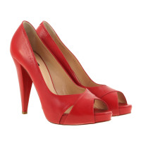 Bally Red peep-toes