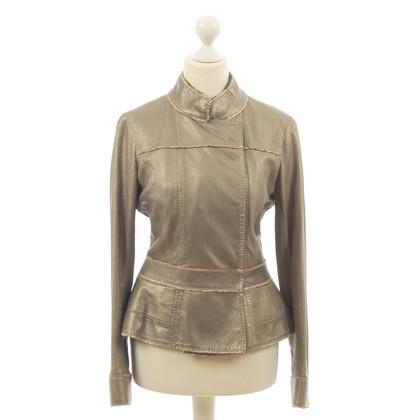 Louis Vuitton Giacca di pelle nel look metallico