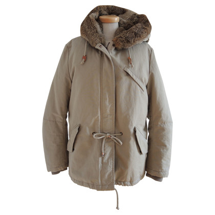 IQ Berlin Beige coat with fur