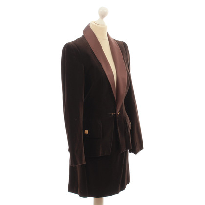 Karl Lagerfeld Velvet costume in dark brown