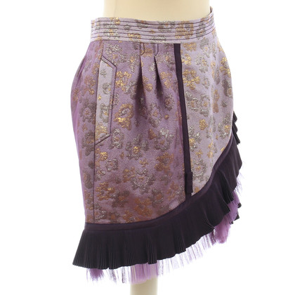 Luella skirt with flounces