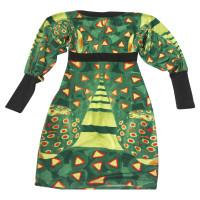 Roberto Cavalli Dress in shades of green
