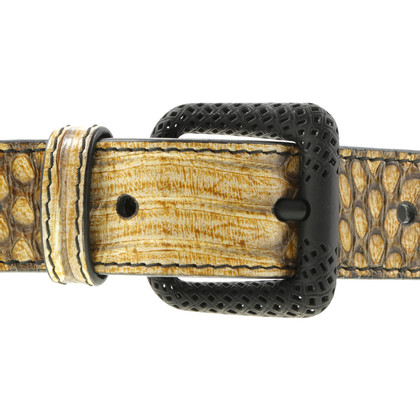 Bottega Veneta Snake leather belt