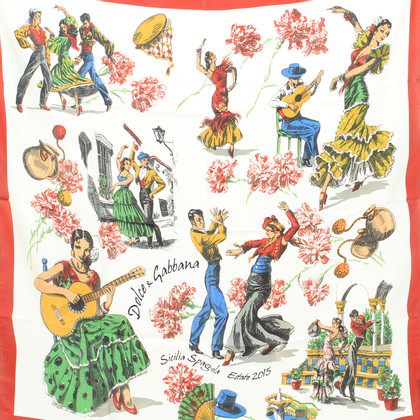 Dolce & Gabbana Tuch mit Flamenco-Print