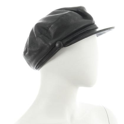 Dolce & Gabbana Pelle nera Cap