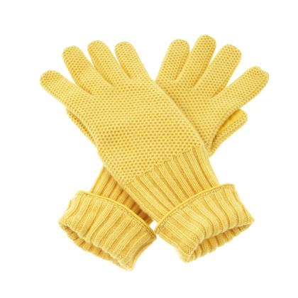 B Private Cashmere handschoenen geel