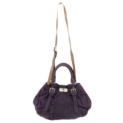 Marni Suede leather bag in purple
