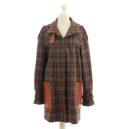 Suno Plaid wool coat