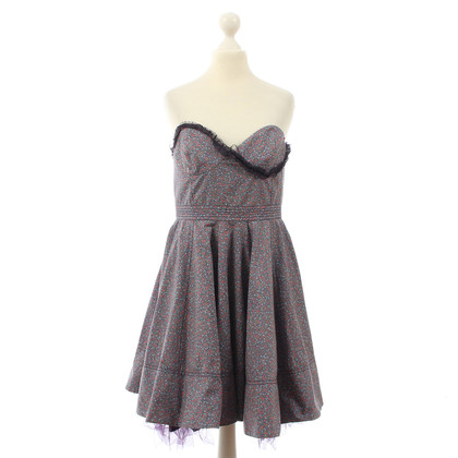 Luella Bustier dress with flower pattern