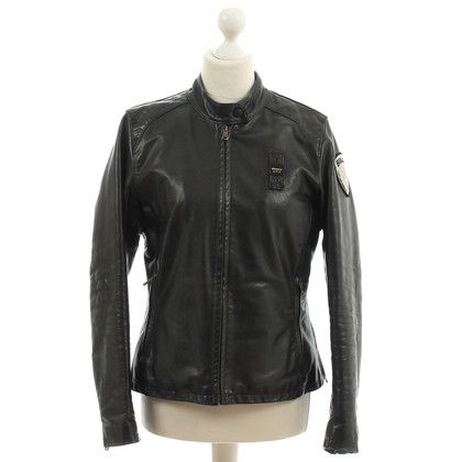 Blauer USA Tailored leather jacket