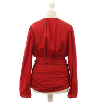 Paule Ka Red silk blouse