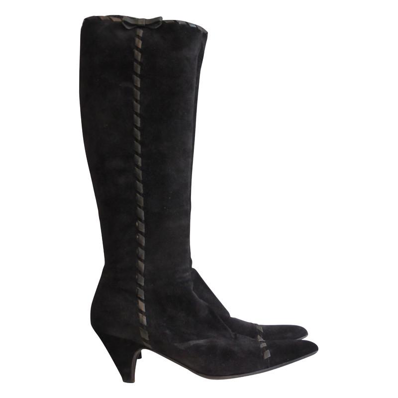 Prada Zwart suède laarzen