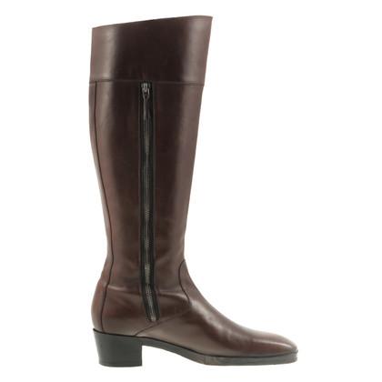 Balenciaga Boot in brown leather
