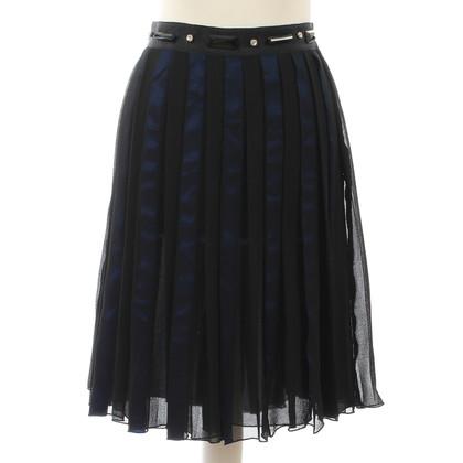 Ferre Silk skirt in blue and black