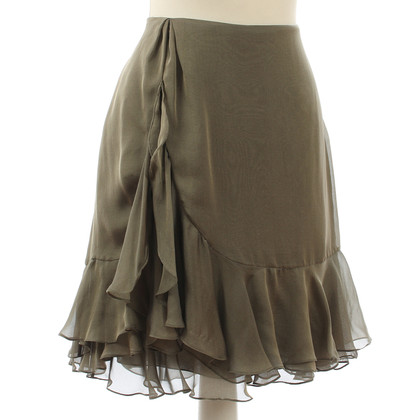 Ralph Lauren Grey silk ruffle skirt