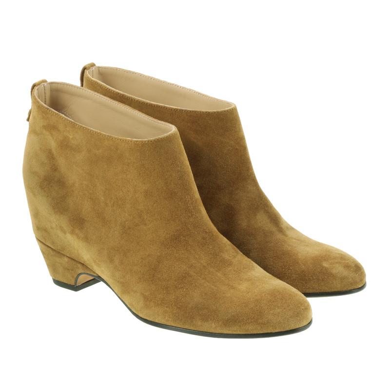 golden goose wildleder ankle boots second hand golden. Black Bedroom Furniture Sets. Home Design Ideas