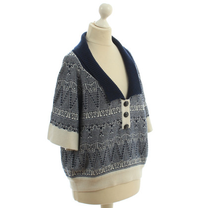 Chanel Cashmere sweater in blue and white