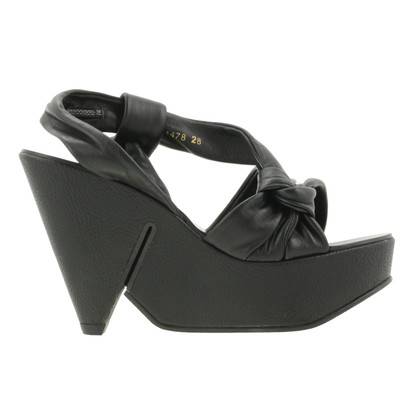 Robert Clergerie Black plateau sandals