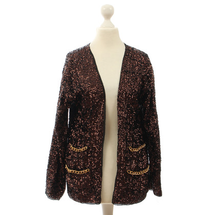 By Malene Birger Sequins Cardigan with chain