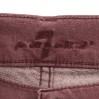 "7 For All Mankind Jeans ""Gwenevere"" in Burgundy"