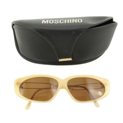 Moschino Cremefarbene Sonnenbrille
