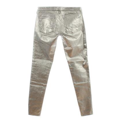 Adriano Goldschmied Jeans metallic silver