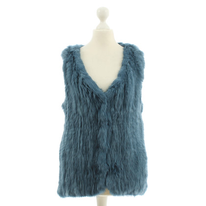 Yves Salomon Bont vest in blauw